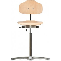High chair with glides Classic WS1011 seat/backrest with wooden