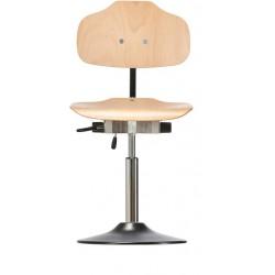 Chair with disc base Classic WS1010 T seat/backrest with wooden