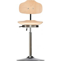 High chair with disc base Classic WS1011 T seat/backrest with