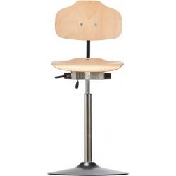 Krzesło wysokie na talerzu Classic WS1011 T siedzisko/oparcie z
