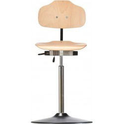 High chair with disc base Classic WS1011 TPU seat/backrest with
