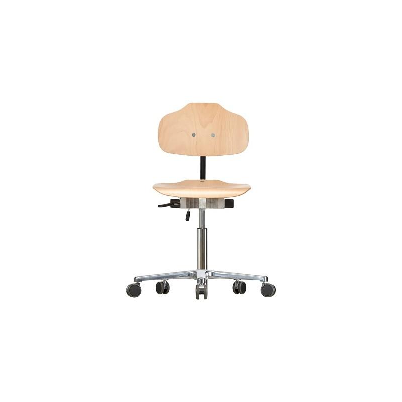 Krzesło na kółkach Classic WS1020 siedzisko/oparcie z drewna