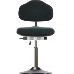 Chair with disc base Classic WS1310 T seat/backrest with fabric