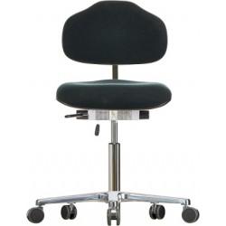 Krzesło na kółkach Classic WS1320 siedzisko/oparcie z tkaniny