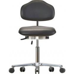 Krzesło na kółkach Classic WS1320 KL siedzisko/oparcie ze