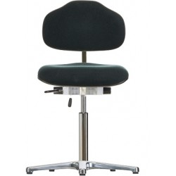 Chair with glides WS1610 ESD Classic seat/backrest with fabric