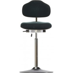 High chair with disc base WS1611 T ESD Classic seat/backrest