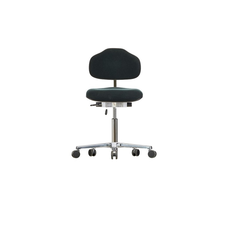 Chair with castors WS1620 ESD Classic seat/backrest with fabric
