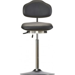 High chair with disc base WS1611 T ESD KL Classic seat/backrest