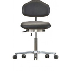 Chair with castors WS1620 ESD Classic seat/backrest with