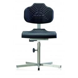 Arbeitsstuhl WS1410 für Nassräume Soft-PUR-Sitz und Lehne Fuß