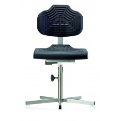 Work chair with glides for wet rooms WS1410 seat/backrest with