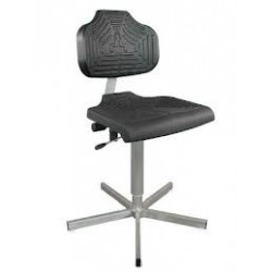 Work chair with glides for wet rooms WS1401.11 seat/backrest