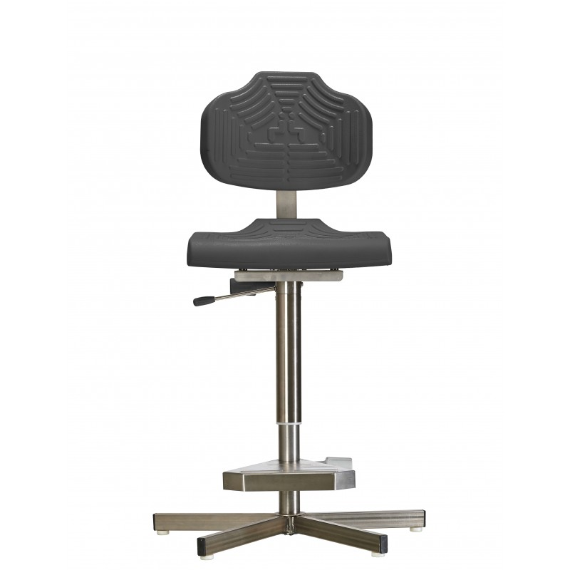 High chair with glides for wet rooms WS1411 GF seat/backrest