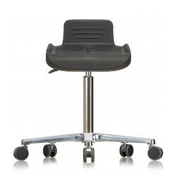 Drehhocker WS 4220 Classic Sitzflächenneigung PUR-Sitz Flachfuß