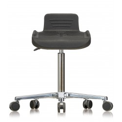 Rotary stool with castors WS4220 Classic seat with Soft-PU