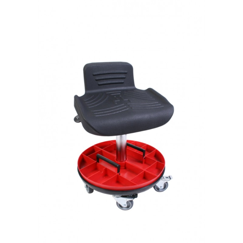 Garage stool with castors WS4225 Classic seat with Soft-PU
