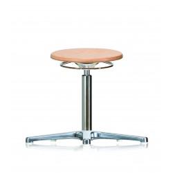 Drehhocker WS3010 Classic Holzsitz Fuß und Gleiter Höhe 420-610