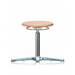 Rotary stool with glides WS3010 Classic seat with wooden