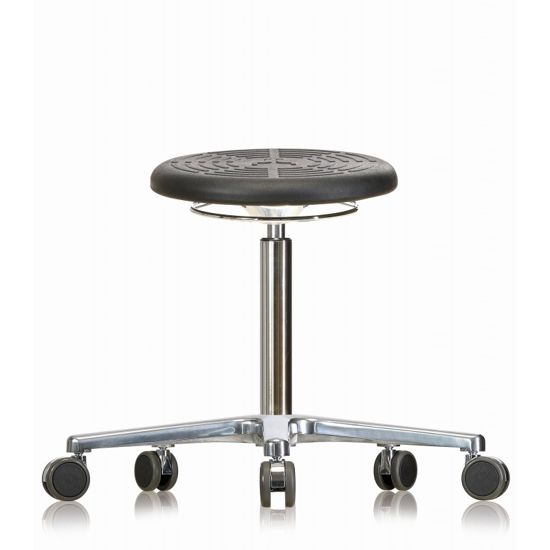 Rotary stool with castors WS3020 PU Classic seat with Soft-PU