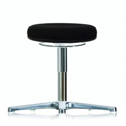 Rotary stool with glides WS3310 Classic seat with fabric