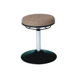 Rotary stool with disc base WS3310 TPU Classic seat with fabric