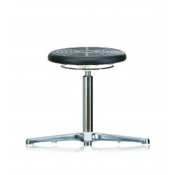 Rotary stool with glides WS3010 PU Classic seat with Soft-PU