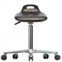 Drehhocker WS4020 Classic Sitzflächenneigung PUR-Sitz Fuß und