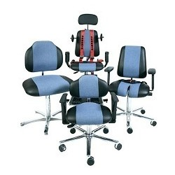 Chair with glides WS1389 KL for overweight people seat/backrest
