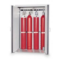 Gas cylinder cabinet G30.205.140 for four 50-liter-bottles grey