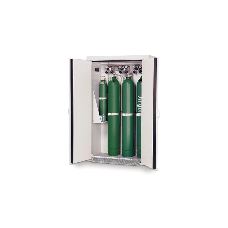 Gas cylinder cabinet G30.205.120 for four 50-liter-bottles grey