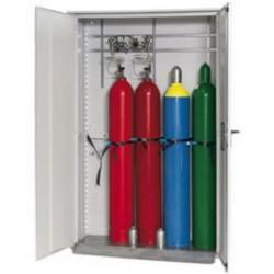 Gas cylinder cabinet GOD.215.135 grey WxDxH 1350x400x2150 mm