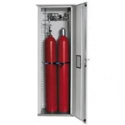 Gas cylinder cabinet GOD.215.070.R grey WxDxH 700x400x2150 mm