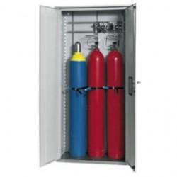 Gas cylinder cabinet GOD.215.100 grey WxDxH 1000x400x2150 mm