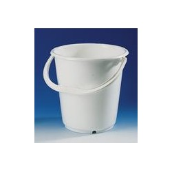 Bucket PE-HD 5 L white graduation 1 L plastic handle