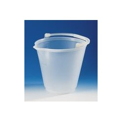 Bucket PP 12 L transparent graduation 1 L spout plastic handle