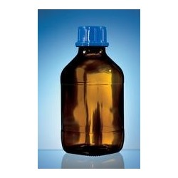 Threaded bottle 100 ml soda-lime glass amber uncoated PP screw