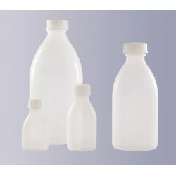 Narrow mouth bottle PE-LD 200 ml without screw cap GL18
