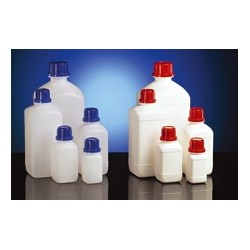 Chemicals narrow neck bottle PE-HD 500 ml white without screw