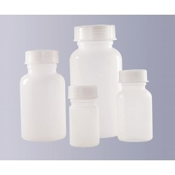 Square bottle wide mouth PE-HD 100 ml without cap GL32