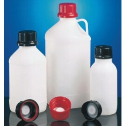Chemical narrow neck bottle PE-HD 500 ml black without screw