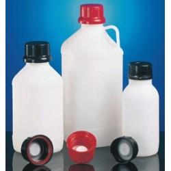 Chemikalienflasche enghals PE-HD 500 ml schwarz ohne Verschluss