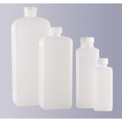 Square narrow mouth bottle PE-HD 250 ml without cap GL25