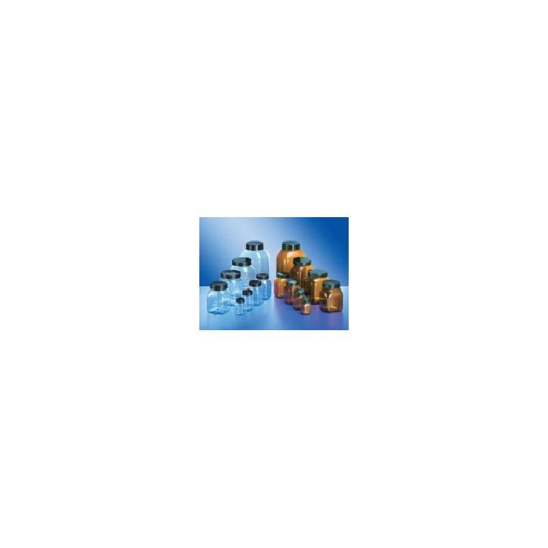 Pojemnik czworokątny szerokoszyjny PVC 750mL brązowy bez