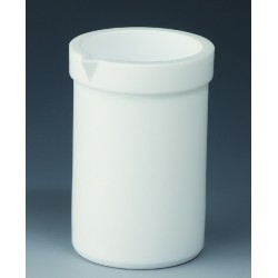 Becher 3000 ml PTFE niedrige Form Ausguss