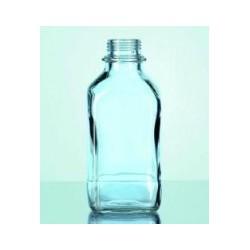 Butelka czworokątna 100 ml wąskoszyjna szkło AR bezbarwna op.