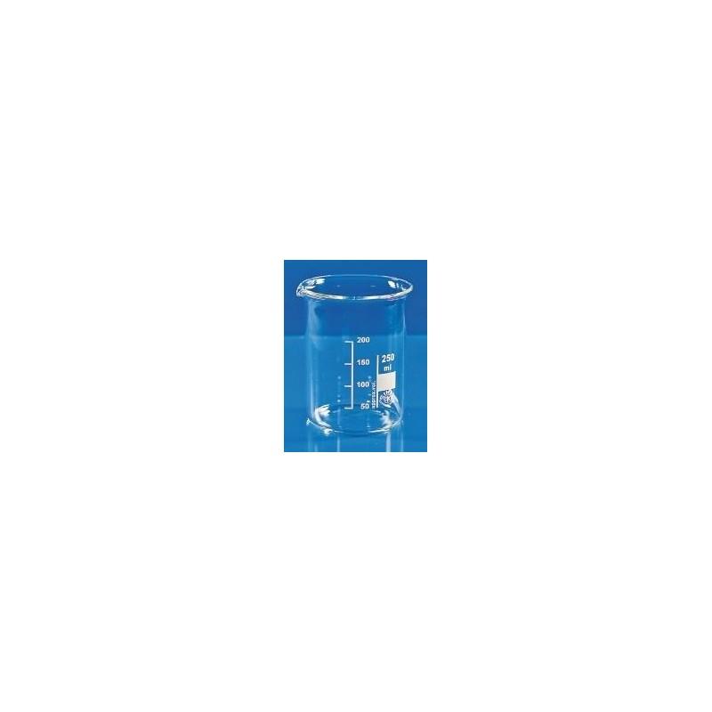 Beaker 150 ml borosilicate glass 3.3 low form graduation spout