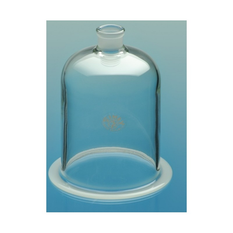 Glasglocke mit NS 29/32 und Flansch Ø150 Höhe 250 mm