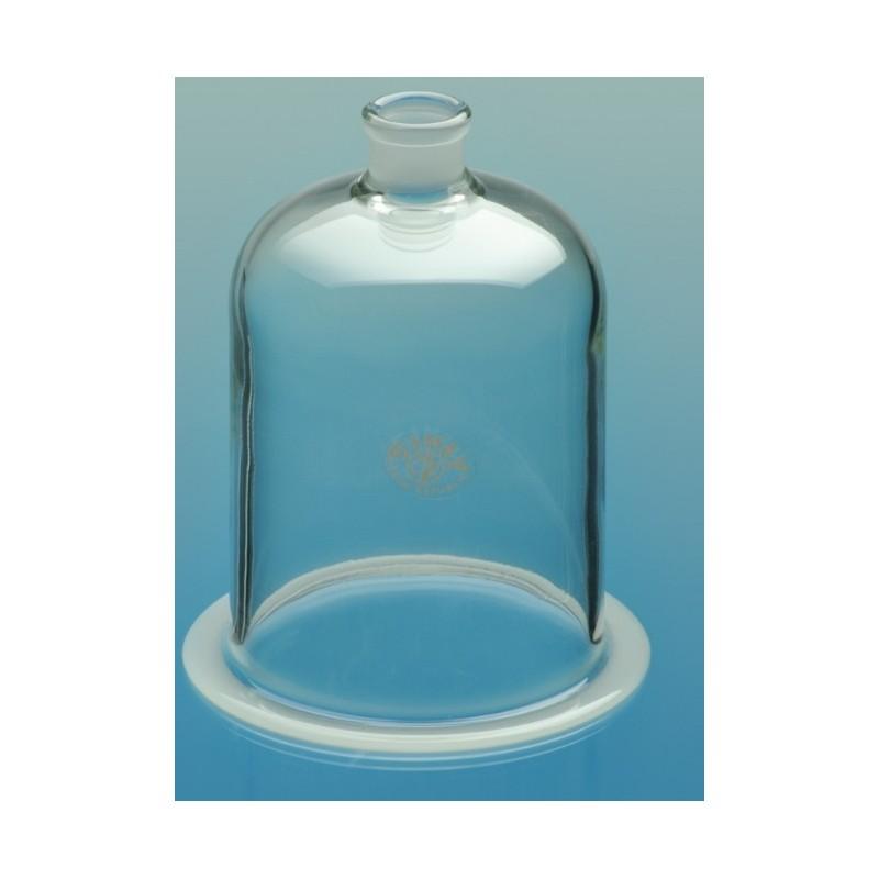 Glasglocke mit NS 29/32 und Flansch Ø 200 Höhe 300 mm