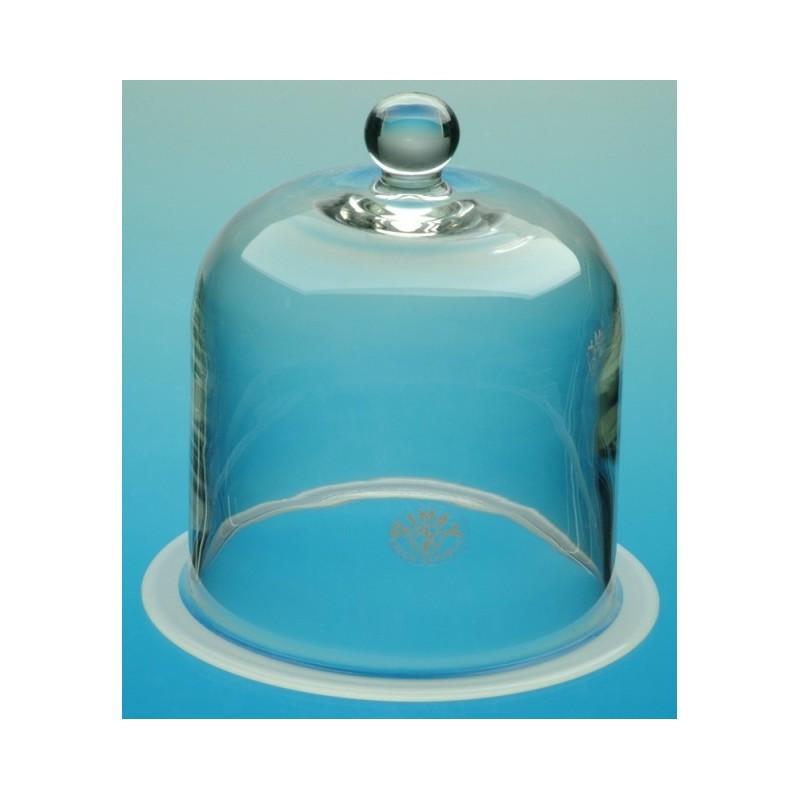 Glasglocke mit Knopf und Flansch Ø 300 Höhe 400 mm